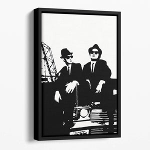 The Blues Brothers Car Floating Framed Canvas