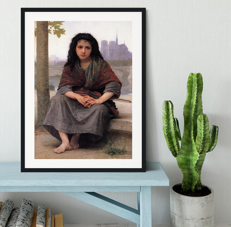 The Bohemian By Bouguereau Framed Print - Canvas Art Rocks - 1