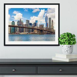 The Brooklyn Bridge Framed Print - Canvas Art Rocks - 1
