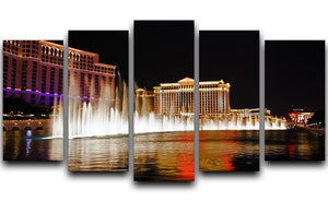 The Caesars Palace Hotel 5 Split Panel Canvas  - Canvas Art Rocks - 1