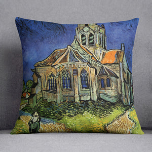The Church at Auvers by Van Gogh Cushion