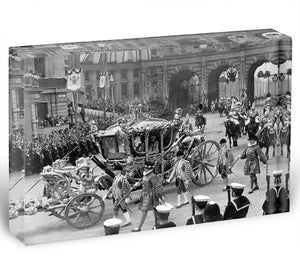 The Coronation of King George VI Kings coach Acrylic Block - Canvas Art Rocks - 1