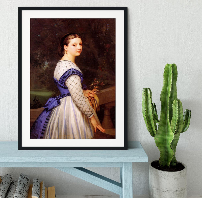 The Countess de Montholon By Bouguereau Framed Print - Canvas Art Rocks - 1