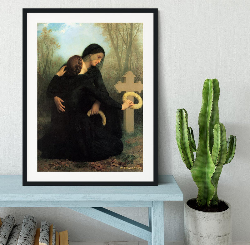 The Day of the Dead By Bouguereau Framed Print - Canvas Art Rocks - 1