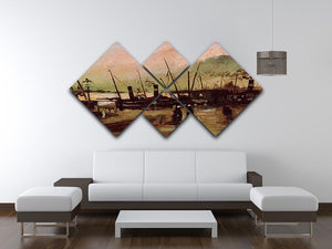 The De Ruijterkade in Amsterdam by Van Gogh 4 Square Multi Panel Canvas - Canvas Art Rocks - 3