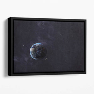 The Earth from space showing all they beauty Floating Framed Canvas