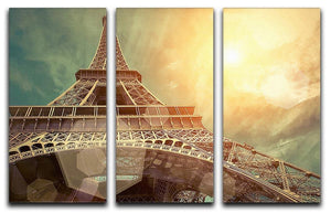 The Eiffel tower under sun light 3 Split Panel Canvas Print - Canvas Art Rocks - 1