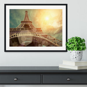 The Eiffel tower under sun light Framed Print - Canvas Art Rocks - 1