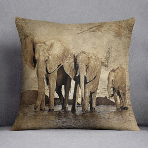 The Elephants March Version 2 Cushion