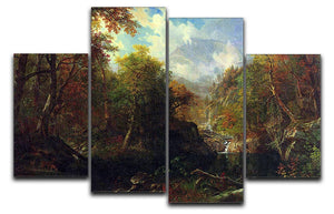 The Emerald pond by Bierstadt 4 Split Panel Canvas - Canvas Art Rocks - 1