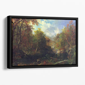 The Emerald pond by Bierstadt Floating Framed Canvas - Canvas Art Rocks - 1
