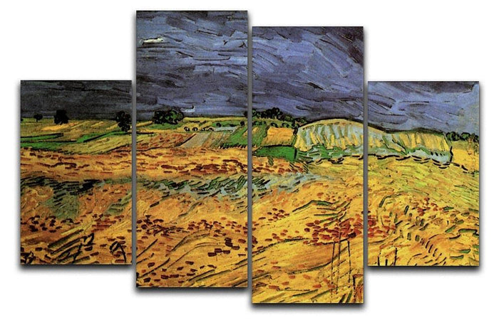 The Fields by Van Gogh 4 Split Panel Canvas