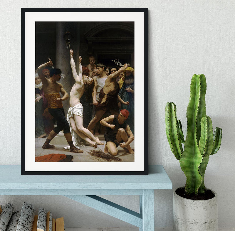 The Flagellation of Our Lord Jesus Christ By Bouguereau Framed Print - Canvas Art Rocks - 1