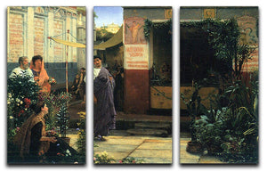 The Flower Market by Alma Tadema 3 Split Panel Canvas Print - Canvas Art Rocks - 1