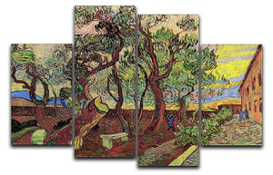 The Garden of Saint-Paul Hospital 3 by Van Gogh 4 Split Panel Canvas  - Canvas Art Rocks - 1
