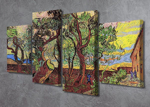 The Garden of Saint-Paul Hospital 3 by Van Gogh 4 Split Panel Canvas - Canvas Art Rocks - 2