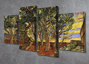 The Garden of Saint-Paul Hospital 4 by Van Gogh 4 Split Panel Canvas - Canvas Art Rocks - 2