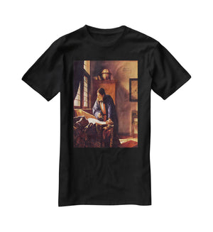 The Geographer by Vermeer T-Shirt - Canvas Art Rocks - 1