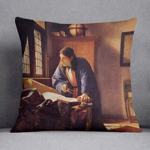 The Geographer by Vermeer Cushion