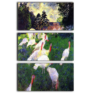 The Gobbler by Monet 3 Split Panel Canvas Print - Canvas Art Rocks - 1