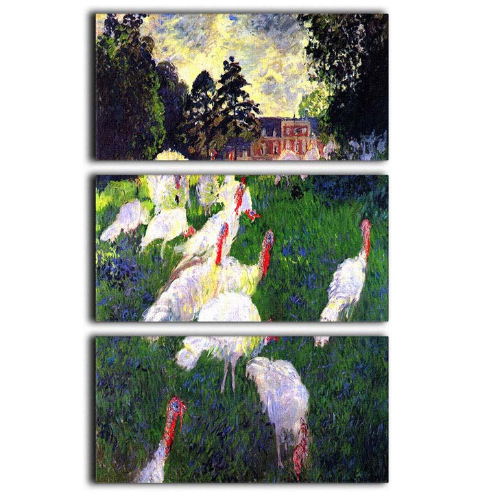 The Gobbler by Monet 3 Split Panel Canvas Print