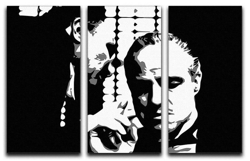 The Godfather  - A Word With The Don 3 Split Panel Canvas Print - Canvas Art Rocks