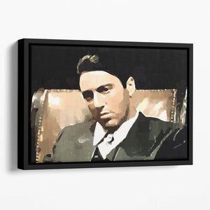 The Godfather Michael Corleone Floating Framed Canvas