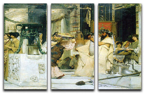 The Grape Harvest Festival detail 1 by Alma Tadema 3 Split Panel Canvas Print - Canvas Art Rocks - 1