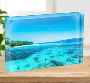 The Great Barrier Reef Acrylic Block - Canvas Art Rocks - 2