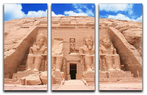 The Great Temple at Abu Simbel 3 Split Panel Canvas Print - Canvas Art Rocks - 1
