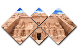 The Great Temple at Abu Simbel 4 Square Multi Panel Canvas  - Canvas Art Rocks - 1