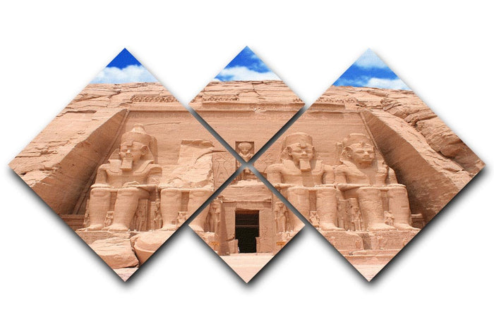 The Great Temple at Abu Simbel 4 Square Multi Panel Canvas