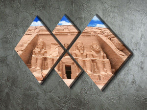 The Great Temple at Abu Simbel 4 Square Multi Panel Canvas  - Canvas Art Rocks - 2