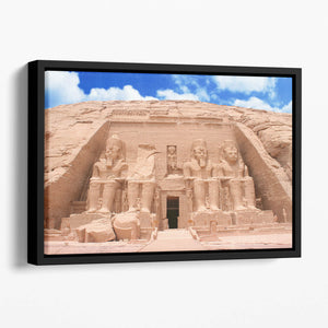 The Great Temple at Abu Simbel Floating Framed Canvas