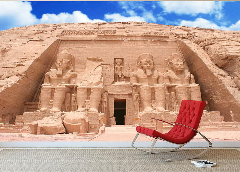 The Great Temple at Abu Simbel Wall Mural Wallpaper - Canvas Art Rocks - 1
