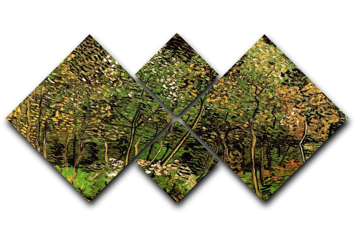 The Grove by Van Gogh 4 Square Multi Panel Canvas