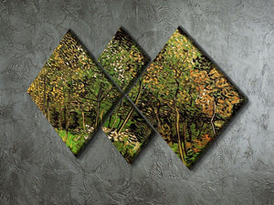 The Grove by Van Gogh 4 Square Multi Panel Canvas - Canvas Art Rocks - 2