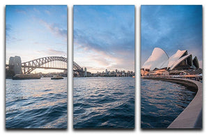 The Harbour Bridge 3 Split Panel Canvas Print - Canvas Art Rocks - 1