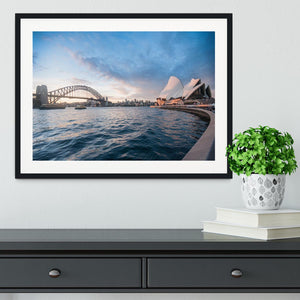 The Harbour Bridge Framed Print - Canvas Art Rocks - 1