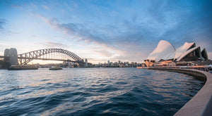 The Harbour Bridge Wall Mural Wallpaper - Canvas Art Rocks - 1