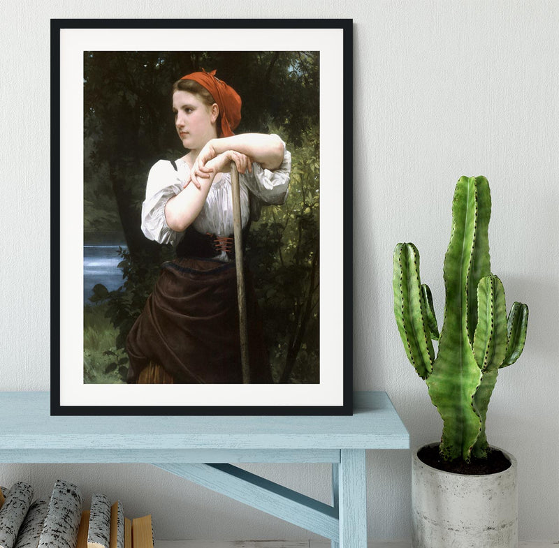 The Haymaker By Bouguereau Framed Print - Canvas Art Rocks - 1