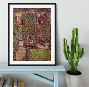 The House of Guard by Klimt Framed Print - Canvas Art Rocks - 1