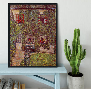 The House of Guard by Klimt Framed Print - Canvas Art Rocks - 2