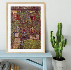 The House of Guard by Klimt Framed Print - Canvas Art Rocks - 3