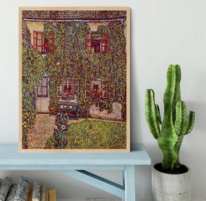 The House of Guard by Klimt Framed Print - Canvas Art Rocks - 4