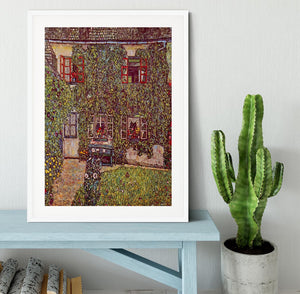 The House of Guard by Klimt Framed Print - Canvas Art Rocks - 5