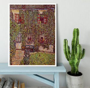 The House of Guard by Klimt Framed Print - Canvas Art Rocks -6