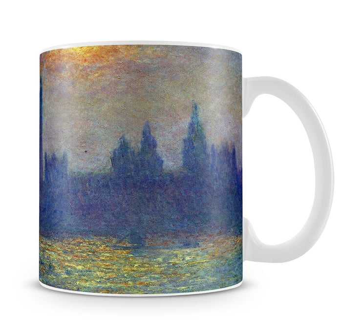 The Houses of Parliament sunlight in the fog by Monet Mug