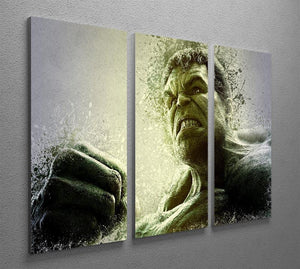 The Hulk 3 Split Panel Canvas Print - Canvas Art Rocks - 2