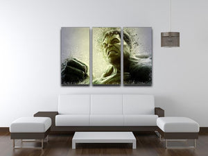 The Hulk 3 Split Panel Canvas Print - Canvas Art Rocks - 3